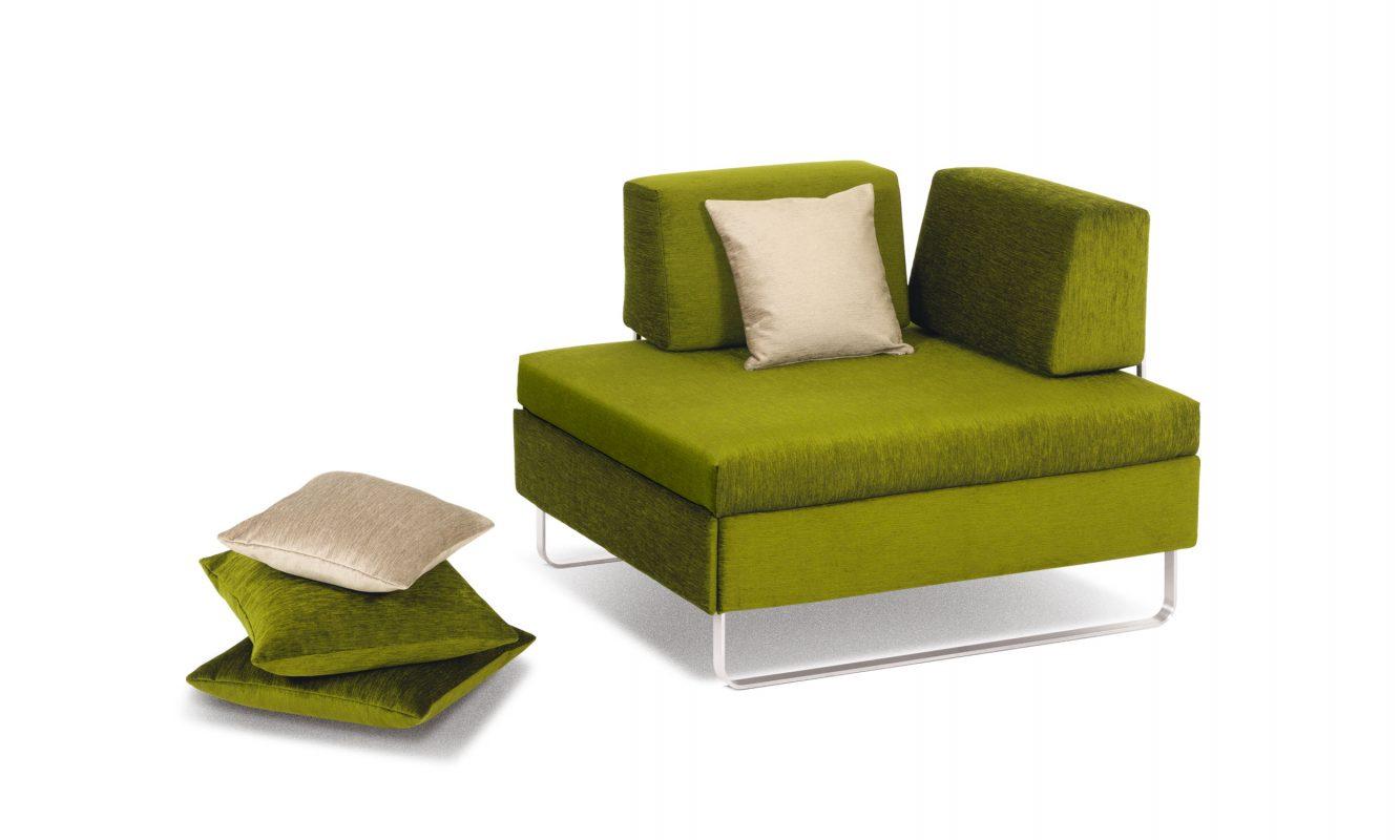 hocker couch bed by swissplus. Black Bedroom Furniture Sets. Home Design Ideas